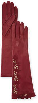 Portolano Flower Embroidery Napa Leather Gloves
