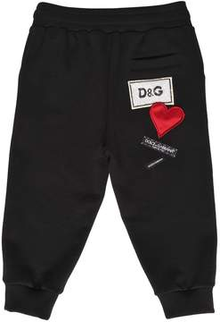 Dolce & Gabbana Cotton Sweatpants W/ Back Patches