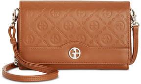 Giani Bernini Logo Embossed Crossbody Wallet, Created for Macy's
