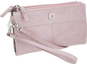 LODIS Italian Leather Wristlet and Crossbody w/ RFID Protection