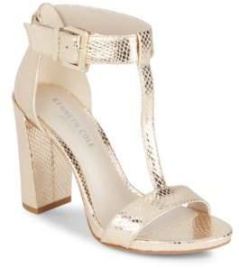 Kenneth Cole Daisy Metallic T-Strap Sandals