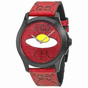 Gucci Ghost G-Timeless Red with UFO Motif Dial Men's Rubber Watch YA1264023