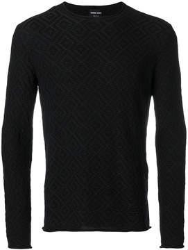 Giorgio Armani patterned jumper
