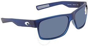 Costa del Mar Half Moon Gray 580P Rectangular Sunglasses HFM 193 OGP