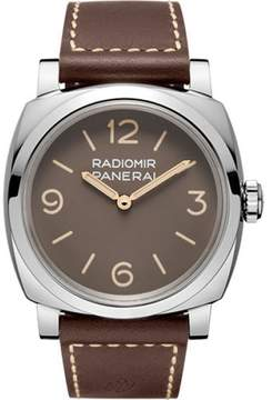 Panerai Radiomir Stainless Steel / Leather Hand Wind 47mm Mens Watch