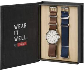 Timex Weekender Box Set Leather & Nylon Straps | Casual Watch TW6G012500