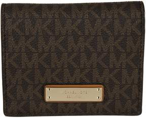Michael Kors Logo Pattern Wallet - BROWN - STYLE