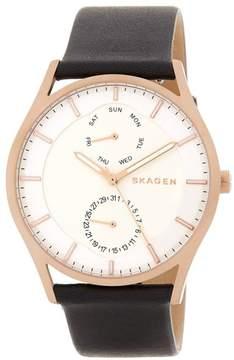 Skagen SKW6316 White Dial Black Leather Strap 40mm Mens Watch