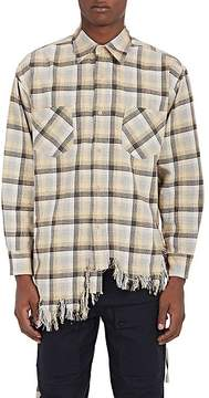 Facetasm Men's Plaid Cotton Oversized Shirt