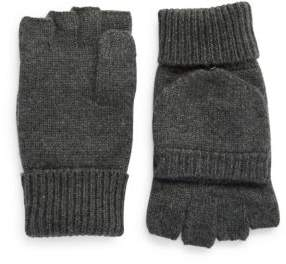 Black & Brown Black Brown Cashmere Fingerless Mittens
