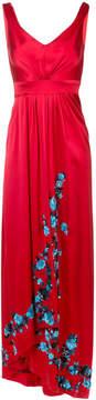 Carolina Herrera embroidered fitted maxi dress