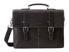 Kenneth Cole Reaction Flappy Go Lucky Colombian Leather Flapover Brief
