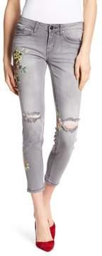 Dex Floral Print Super Skinny Ankle Jeans