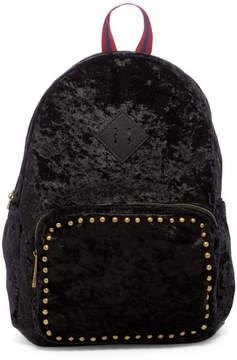 Madden-Girl Crushed Velvet Backpack with Studs