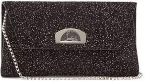 Christian Louboutin Vero Dodat Embellished Suede Clutch - Womens - Black Silver