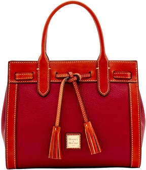 Dooney & Bourke Pebble Grain Ariel Satchel - CRANBERRY - STYLE