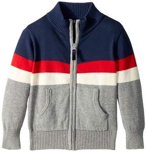 Toobydoo Color Block Zip Sweater Boy's Sweater