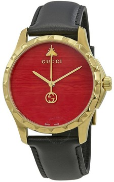 Gucci G-Timeless Coral Red Dial Men's Watch
