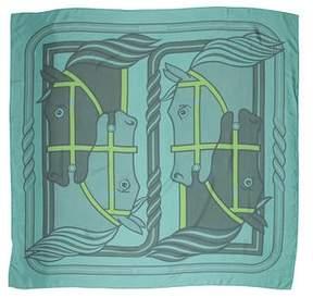 Hermes Quadrige Dip-Dye Silk Shawl