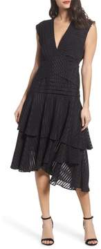 Keepsake the Label Waterfall Burnout Stripe Dress