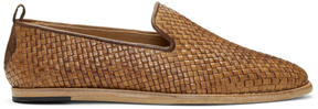 H By Hudson Brown Woven Ipanema Loafers
