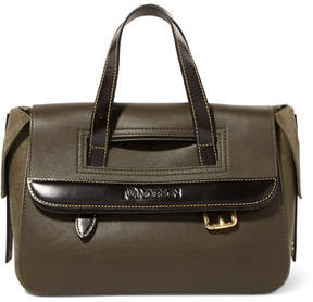 J.W.Anderson Tool Mini Textured-leather And Nubuck Tote - Green