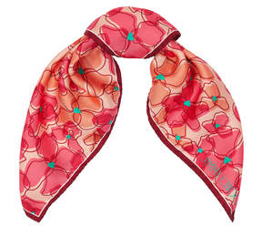 Jimmy Choo LILLY Flamingo and Calypso Pocket Scarf