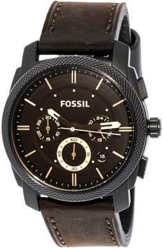 Fossil Men's FS4656 Machine Leather Watch, 42mm