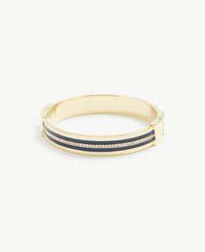 Ann Taylor Striped Bauble Cuff