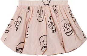 Nununu Powder Pink Skull Mask Balloon Skirt