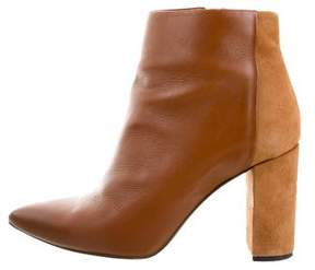 IRO Leather Pointed-Toe Ankle Boots