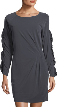 Collective Concepts Ruffled Long-Sleeve Dress