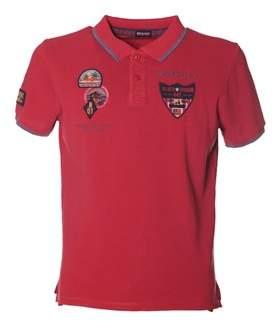 Blauer Men's Red Cotton Polo Shirt.