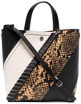 Proenza Schouler Python-Embossed Small Hex Tote