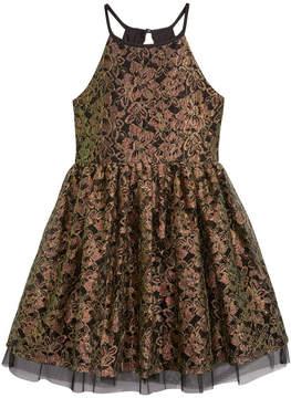 My Michelle Metallic Lace Dress, Big Girls (7-16)