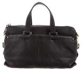 Rebecca Minkoff Grained Leather Satchel - BLACK - STYLE