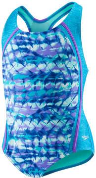 Speedo Tie Dye One Piece Swimsuit Big Kid Girls