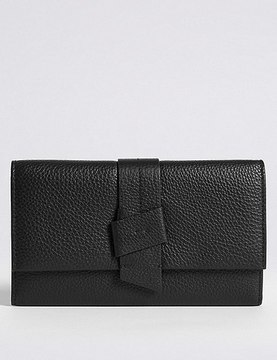 Leather Knot Detail Purse with CardsafeTM