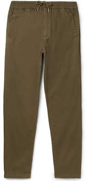 Folk Slim-Fit Tapered Cotton Drawstring Trousers