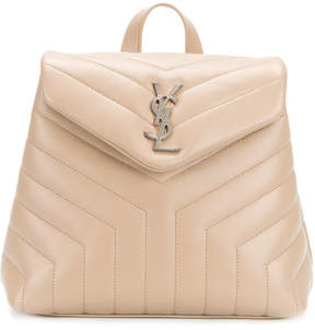 Saint Laurent Lou Lou backpack - NUDE & NEUTRALS - STYLE