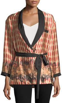 Forte Forte Printed Belted Silk Topper Jacket