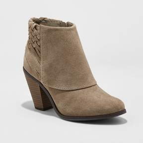 Mossimo Women's Riley Suede Woven Booties