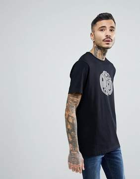 Pretty Green Short Sleeve Jersey Logo T-Shirt In Black