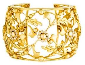 Amrapali 18K Diamond Floral Cut-Out Cuff Bracelet