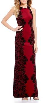 B. Darlin Flocked Long Dress