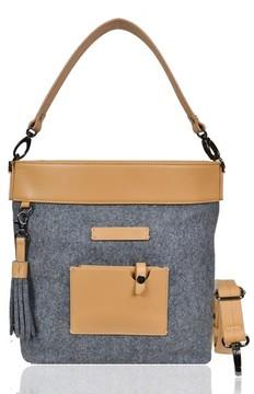 Sherpani Boheme Wool & Leather Convertible Crossbody Bag - Grey