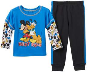 Disney Disney's Mickey Mouse & Pluto Baby Boy Skater Tee & Pants Set
