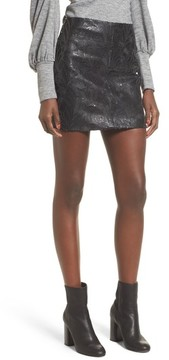 Blank NYC Women's Blanknyc Sequin Faux Leather Miniskirt