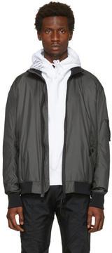 Helmut Lang Grey Translucent Bomber Jacket