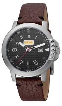 Just Cavalli Men's Rock Rock Quartz Multiple Colors Leather Strap Watch.